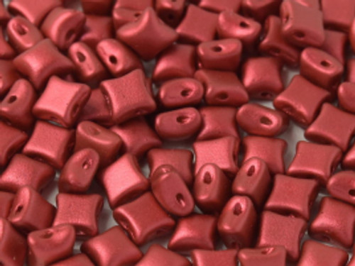 WibeDuo Beads, Lava Red, 8 x 8mm (Qty: 25)