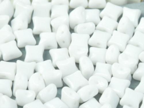 WibeDuo Beads, Chalk White, 8 x 8mm (Qty: 25)
