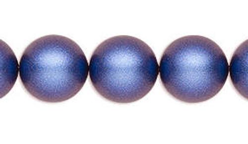 4mm Swarovski Pearls, Iridescent Dark Blue (Qty: 50)
