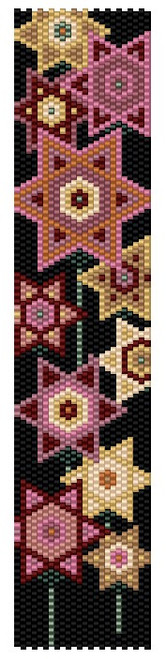 Sue Arrighi's Star Flowers Bracelet Kit (pattern sold separately) Even Count Peyote Stitch