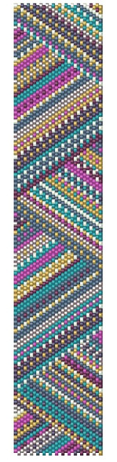 Sue Arrighi's Zig Zag Bracelet Kit (pattern sold separately) Even Count Peyote Stitch