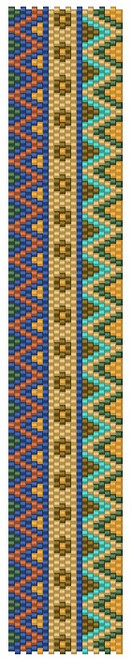 Sue Arrighi's Ribbon 2 Narrowed Bracelet Kit (pattern sold separately) Even Count Peyote Stitch
