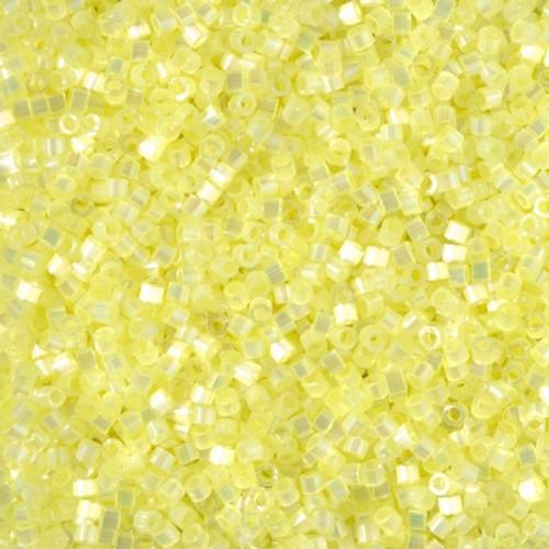 Size 11, DB-1873, Pastel Yellow Silk Satin AB (10 gr.)