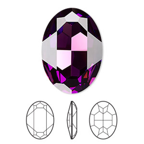 30x22mm Oval Fancy Stone Swarovski 4127, Amethyst