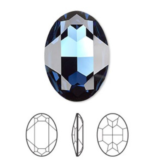 30x22mm Oval Fancy Stone Swarovski 4127, Montana Blue