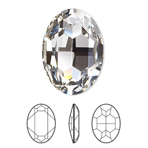 30x22mm Oval Fancy Stone Swarovski 4127, Crystal