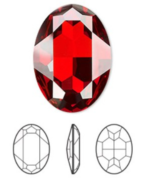 30x22mm Oval Fancy Stone Swarovski 4127, Red Magma