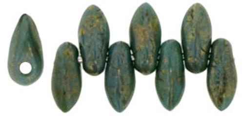 Mini Daggers, 2.5 x 6mm, 1-Hole, Persian Turquoise Bronze (Qty: 50)