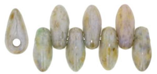 Mini Daggers, 2.5 x 6mm, 1-Hole, Ultra Luster Opaque Green (Qty: 50)