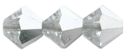 6mm Swarovski Bicones, Crystal Comet Argent Light (CAL) (Qty: 25)