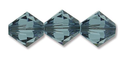 6mm Swarovski Bicones, Denim Blue (Qty: 25)