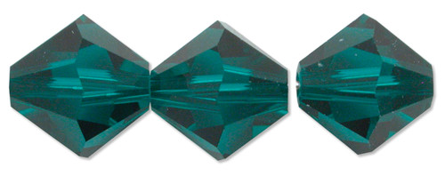 6mm Swarovski Bicones, Emerald (Qty: 25)