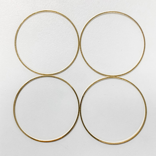 40mm Round Link/Frame/Form, Gold-Plated Brass (Qty: 4)