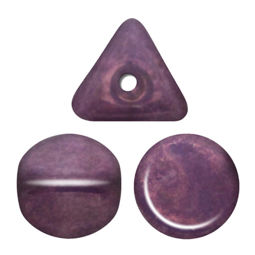 Ilos par Puca Beads, White Lila Vega Luster (Opaque Amethyst/Gold Ceramic) (5 gr.)