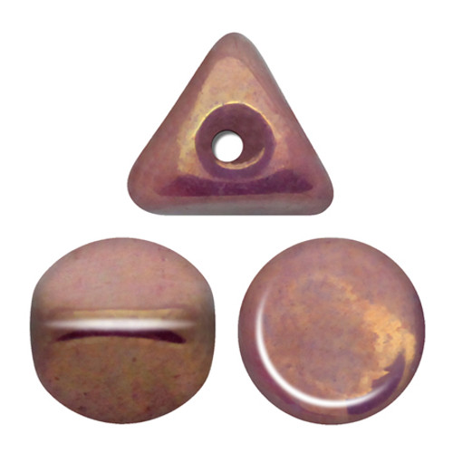 Ilos par Puca Beads, White Vega Luster (Opaque Violet/Gold Ceramic) (5 gr.)