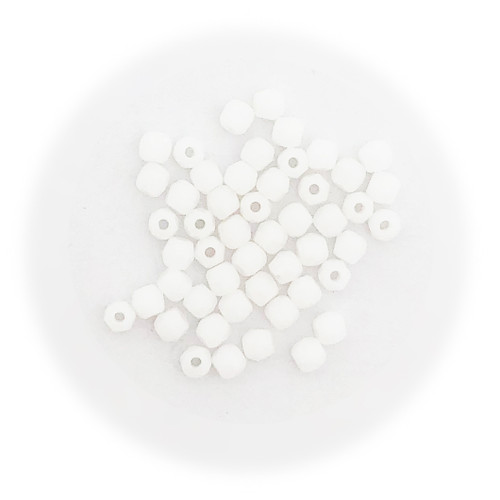 2mm Fire Polished Beads, Opaque White (Qty: 50)* True2!