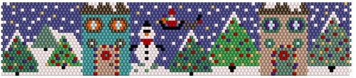 Sue Arrighi's Christmas 1 Bracelet Kit (pattern sold separately) Even Count Peyote Stitch