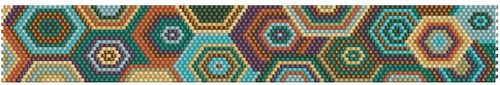 Sue Arrighi's 2020-5 Bracelet Kit (pattern sold separately) Even Count Peyote Stitch