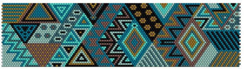Sue Arrighi's Turquoise Skies Bracelet Kit (pattern sold separately) Even Count Peyote Stitch