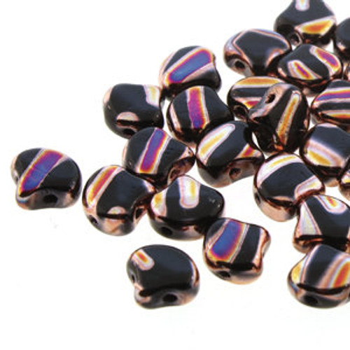 Ginko Beads, Jet Full Sliperit Line (Qty: 25)