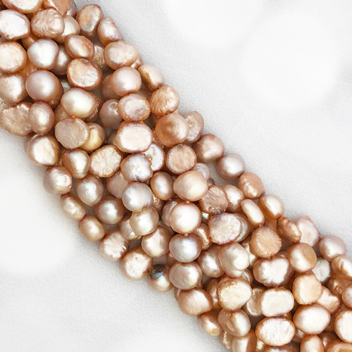 7-7.5mm Light Pink Fresh Water Pearls, Nugget (1 strand)