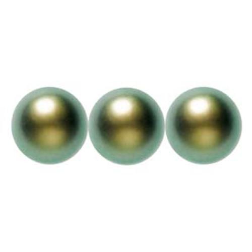 4mm Swarovski Pearls, Iridescent Green (Qty: 50)