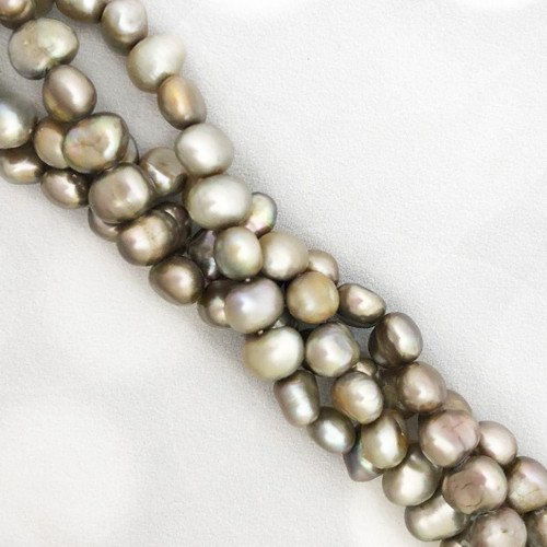 8-8.5mm Light Greige Fresh Water Pearls, Nugget (1 strand)