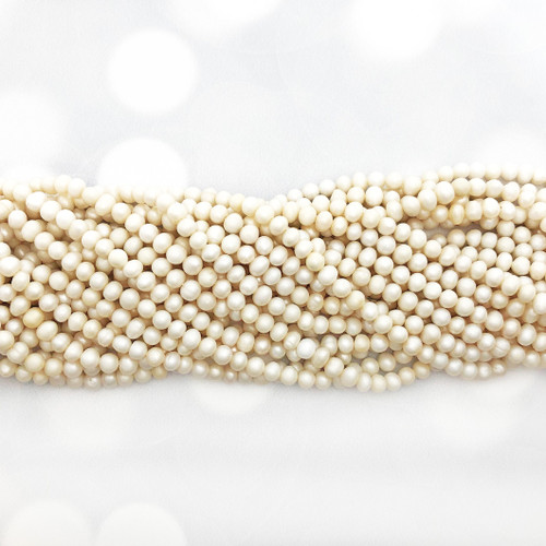 4-5mm Ivory Fresh Water Pearls, Potato (1 strand) (More matte than others)