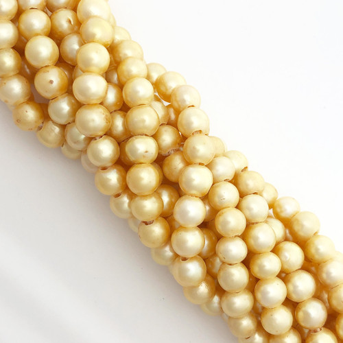 "7-7.5mm Yellow Freshwater Pearls, Big Hole Potato (8"" strand)"