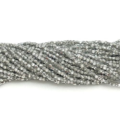 3mm Fire Polish, Crystal Labrador Half-Coat (Qty: 50)