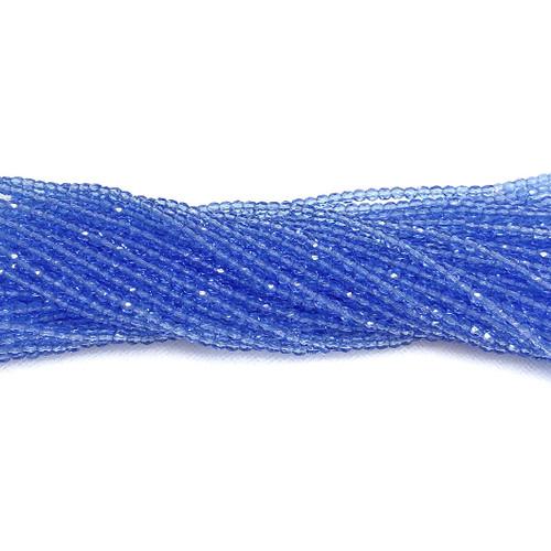 3mm Fire Polish, Transparent Sapphire (Qty: 50)