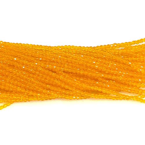 3mm Fire Polish, Transparent Honey Yellow (Qty: 50)