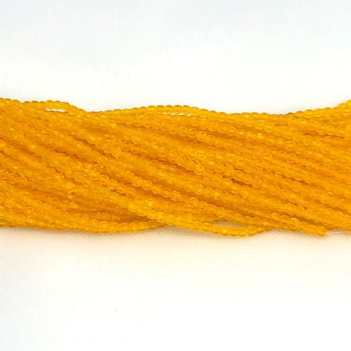 3mm Fire Polish, Transparent Honey Yellow Matte (Qty: 50)