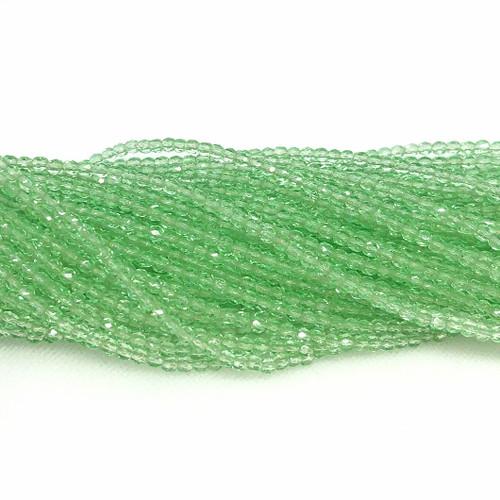 3mm Fire Polish, Transparent Peridot Green (Qty: 50)