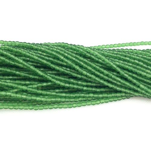 3mm Fire Polish, Transparent Light Prairie Green Matte (Qty: 50)