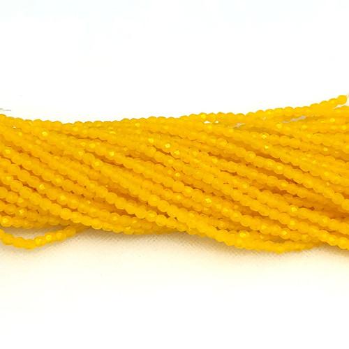3mm Fire Polish, Sunflower Yellow Matte (Qty: 50)