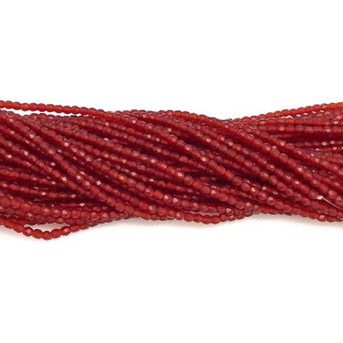 3mm Fire Polish, Garnet Matte (Qty: 50)