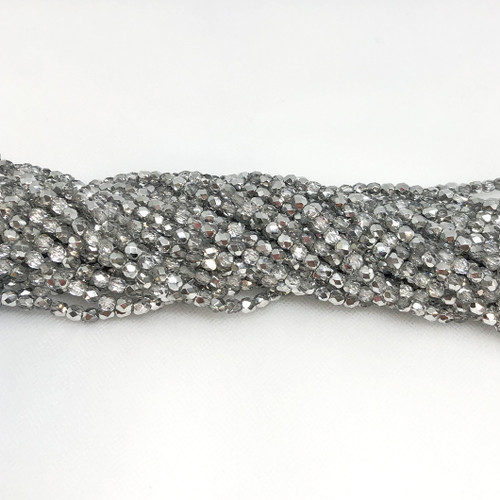 4mm Fire Polish, Crystal Labrador Half-Coat (Qty: 50)