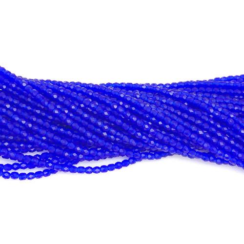 4mm Fire Polish, Transparent Capri Blue Matte (Qty: 50)
