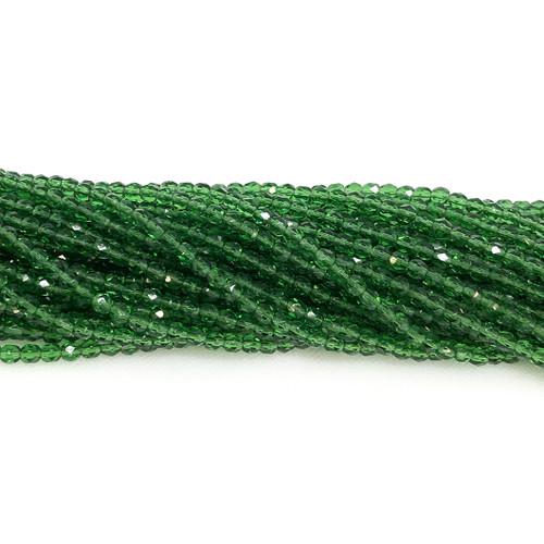 4mm Fire Polish, Transparent Light Prairie Green (Qty: 50)