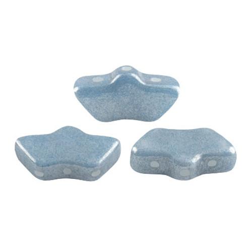 Delos par Puca Beads, Blue Luster (Opaque Blue Ceramic Look) (Qty: 15)