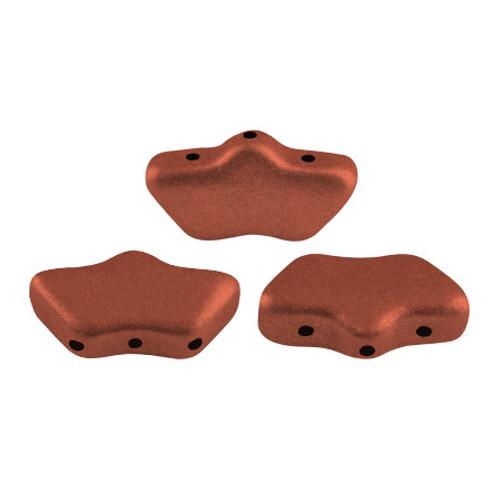 Delos par Puca Beads, Copper (Bronze Red Matte) (Qty: 15)