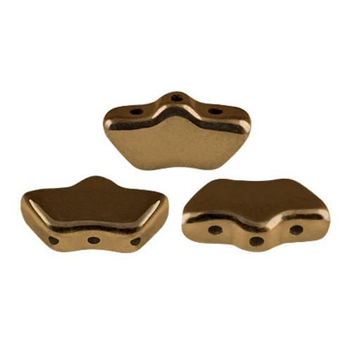 Delos par Puca Beads, Dark Gold Bronze (Qty: 15)