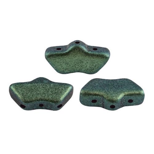 Delos par Puca Beads, Metallic Green Turquoise (Qty: 15)