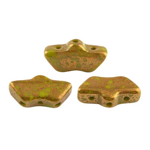 Delos par Puca Beads, Opaque Green Bronze (Qty: 15)