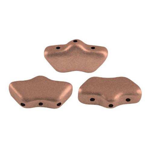 Delos par Puca Beads, Vintage Copper (Copper Gold Matte) (Qty: 15)