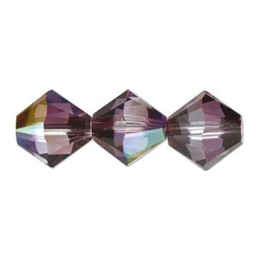 4mm Swarovski Bicones, Crystal Lilac Shadow (Qty: 50)