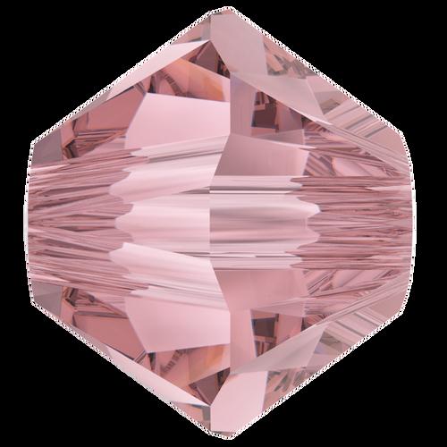 4mm Swarovski Bicones, Crystal Antique Pink (Qty: 50)