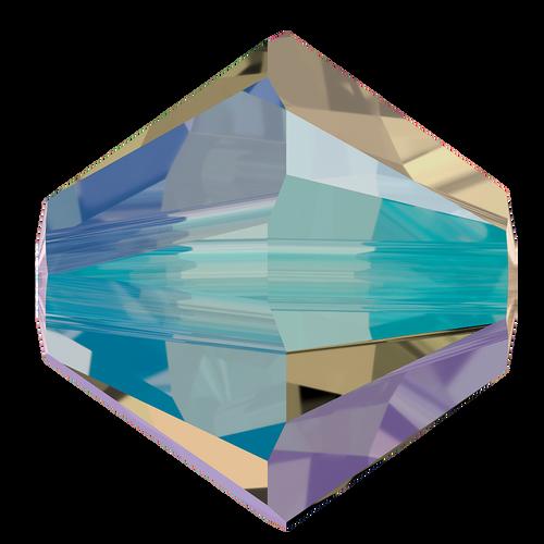 4mm Swarovski Bicones, Black Diamond Shimmer (Qty: 50)