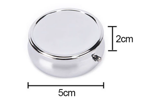 Silver-Plated 50mm Round Pill Box for Les Perles par Puca patterns (Qty: 1)